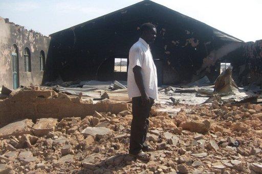 Nigéria-igreja-destruída